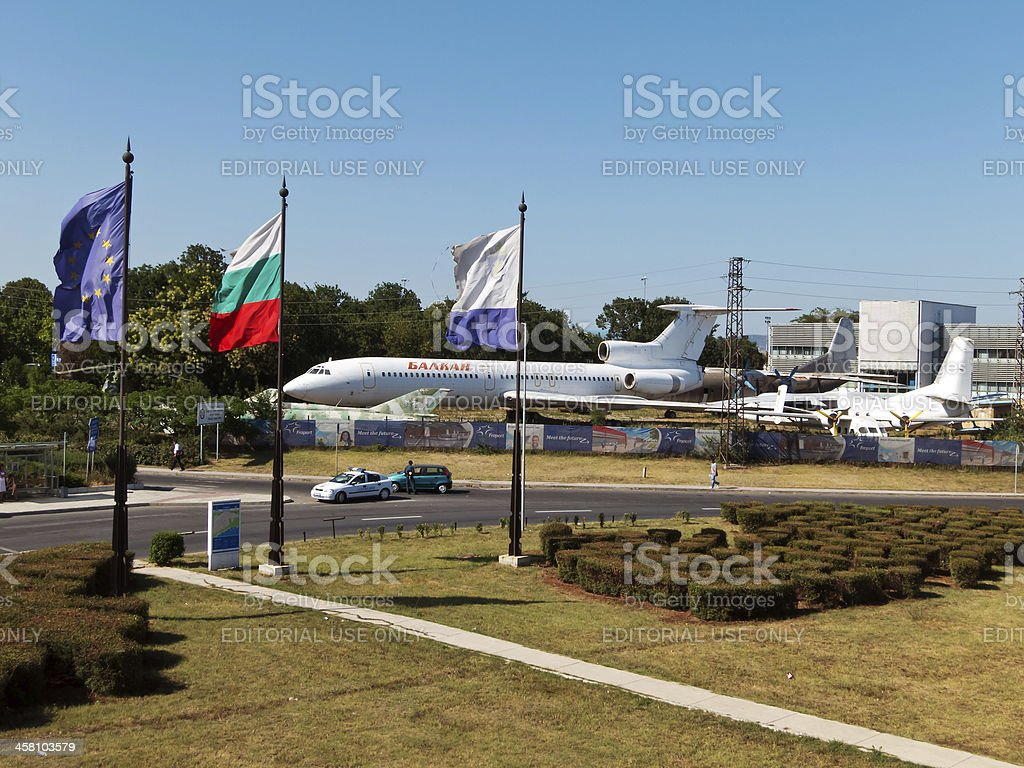 General view of Sarafovo Airport royalty-free stock photo