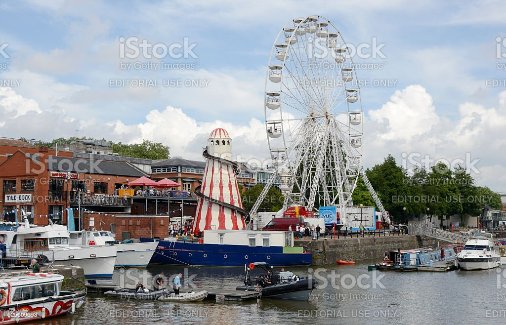 General view of the Bristol Harbour Festival stock photo