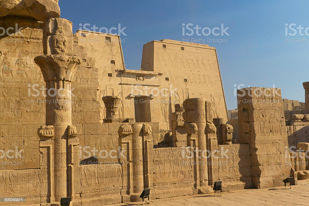 General view of the temple of Horus stock photo
