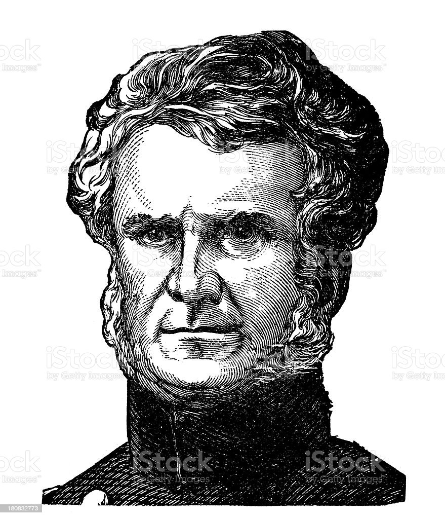 General William Jenkins Worth,US Army (War of 1812) stock photo