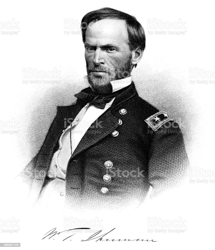 General William Tecumseh Sherman stock photo