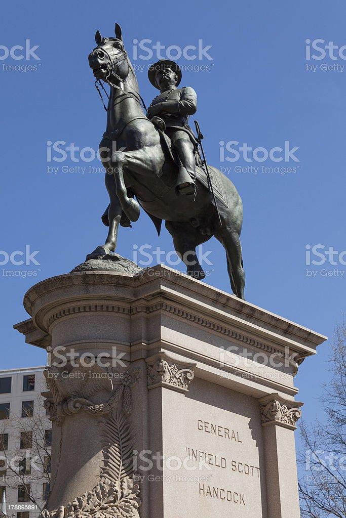 General Winfield Scott Hancock in Washington DC stock photo