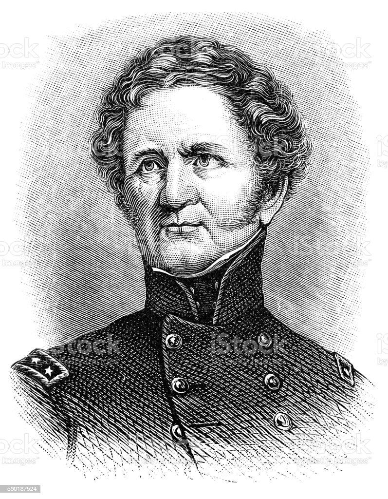 General Winfield Scott stock photo