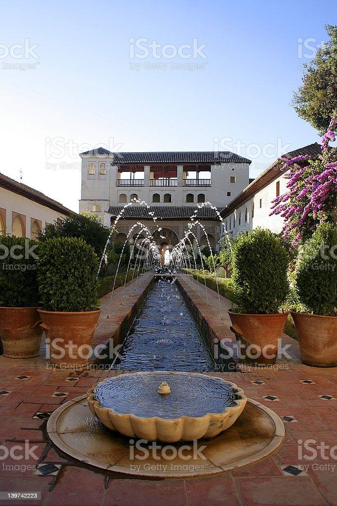Generalife in Granada, Spain stock photo