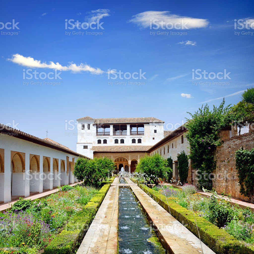 Palacio de Generalife, Granada stock photo