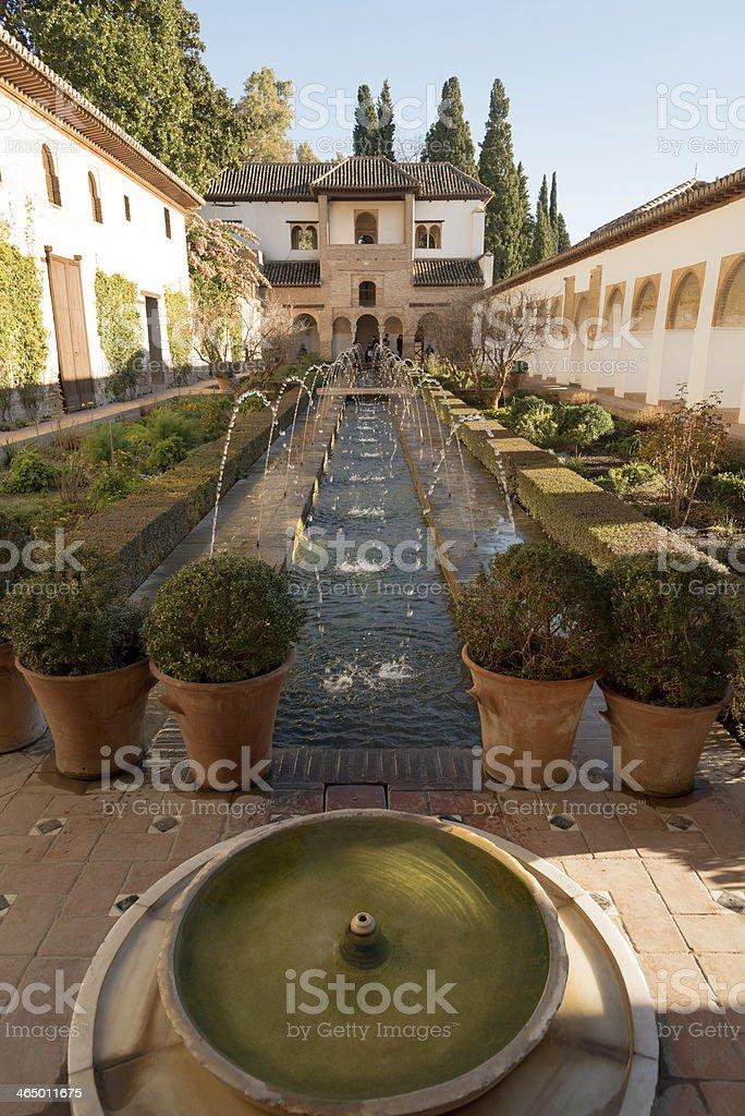 Generalife palace stock photo