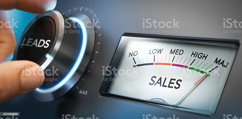 Generate More Leads and Sales stock photo