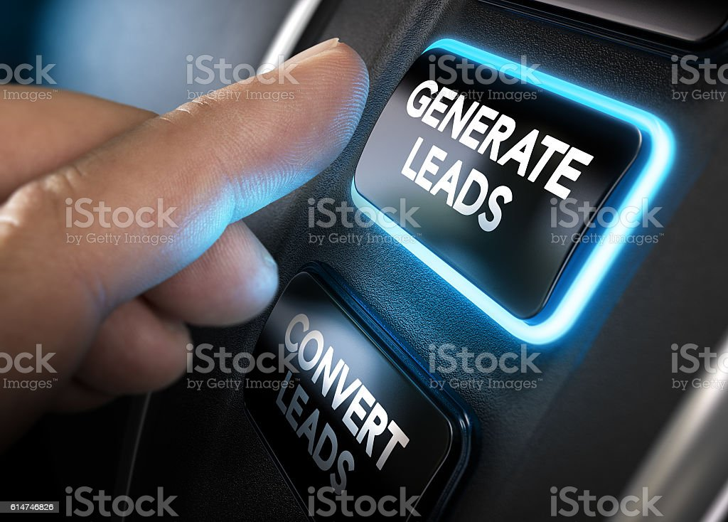 Generating and Converting Sales Leads stock photo