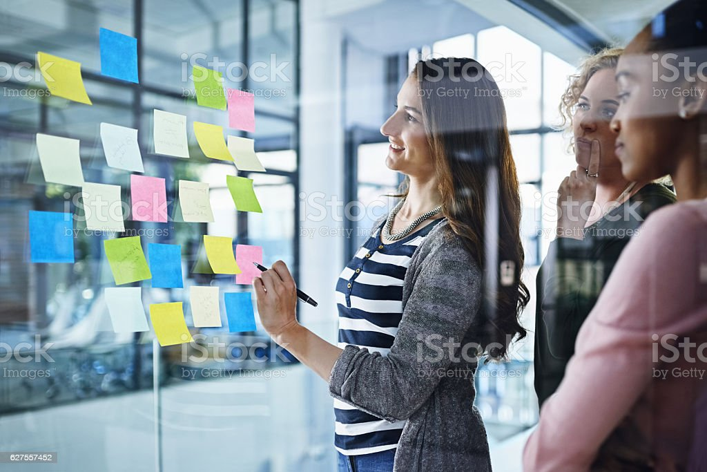 Generating some fresh and innovative ideas stock photo