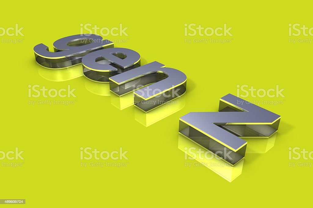 Generation Z 3D Title stock photo