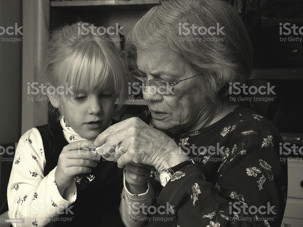 Generations Apart royalty-free stock photo