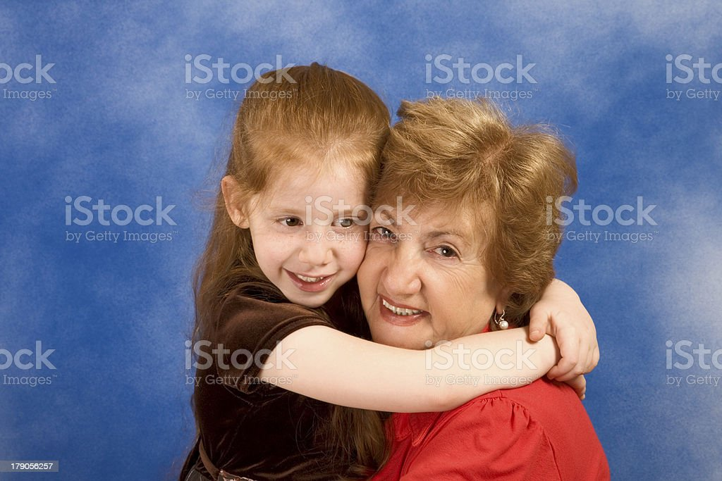 Generations: grandmother with her granddaughter royalty-free stock photo