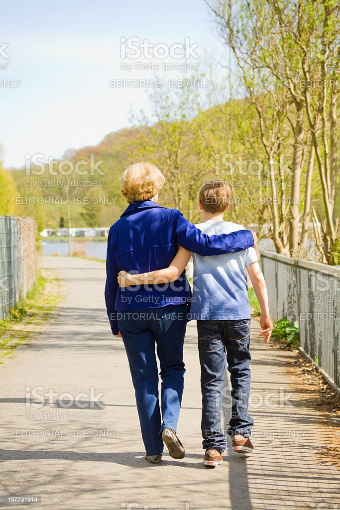 Generations in spring stock photo