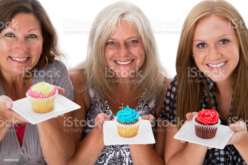 Generations of Cupcake Lovers royalty-free stock photo