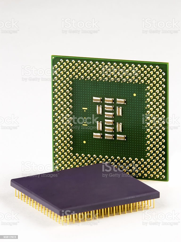 CPU Generations royalty-free stock photo