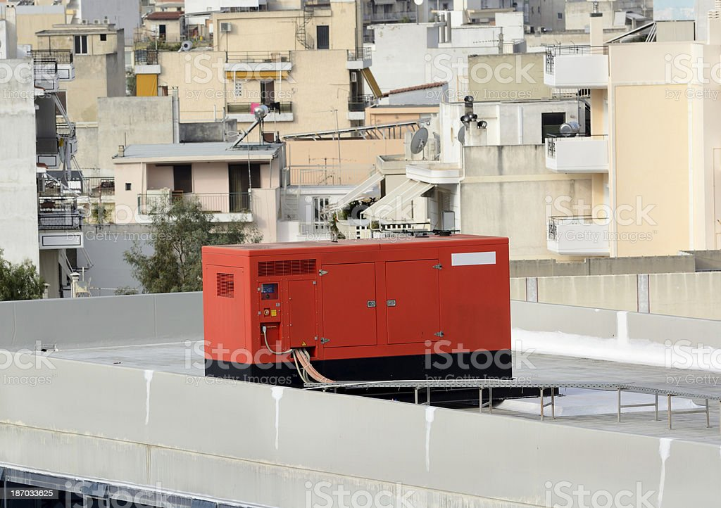 Generator on the Roof stock photo