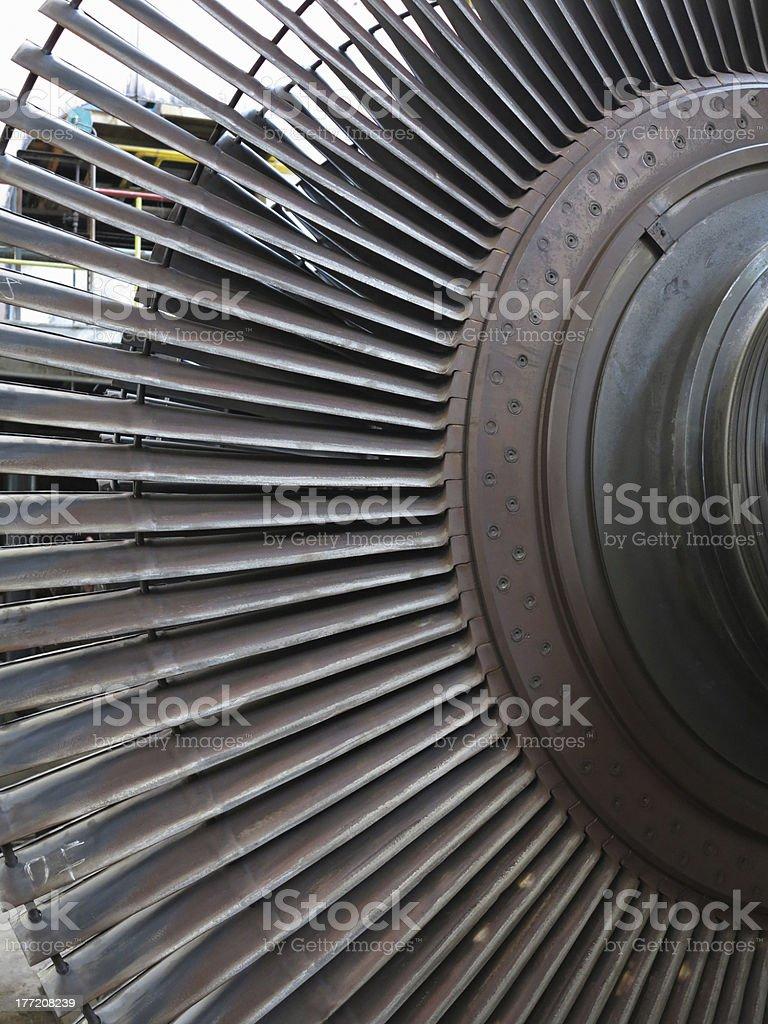 Gerador de turbina de vapor durante reparação de central elétrica foto de stock royalty-free