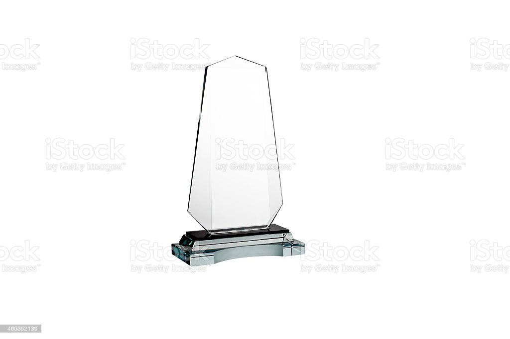Generic award on a white background stock photo