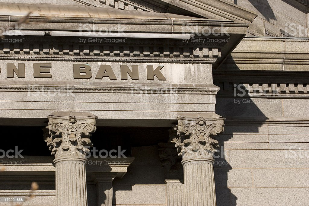 Generic Bank royalty-free stock photo