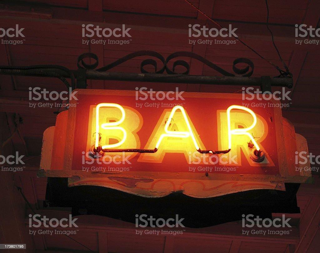 Generic Bar Sign 2 - Night royalty-free stock photo