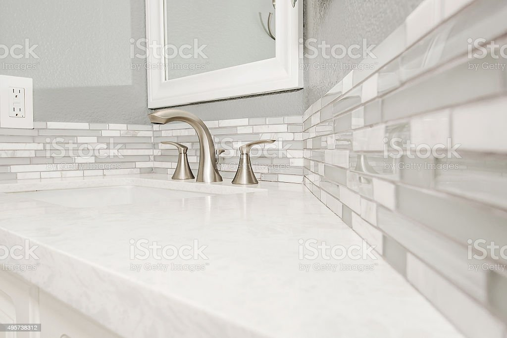 Generic Bathroom Counter Detail stock photo