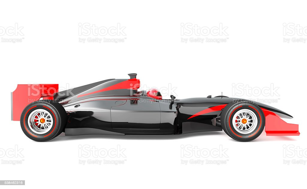 Generic black and red race car stock photo
