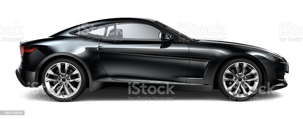 Generic black sport coupe car stock photo