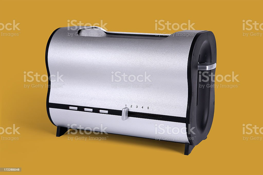 Generic blank toaster on yellow background royalty-free stock photo