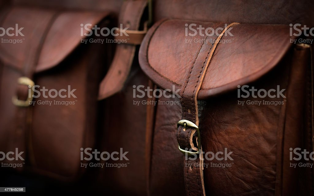 Generic Brown Leather Bag stock photo