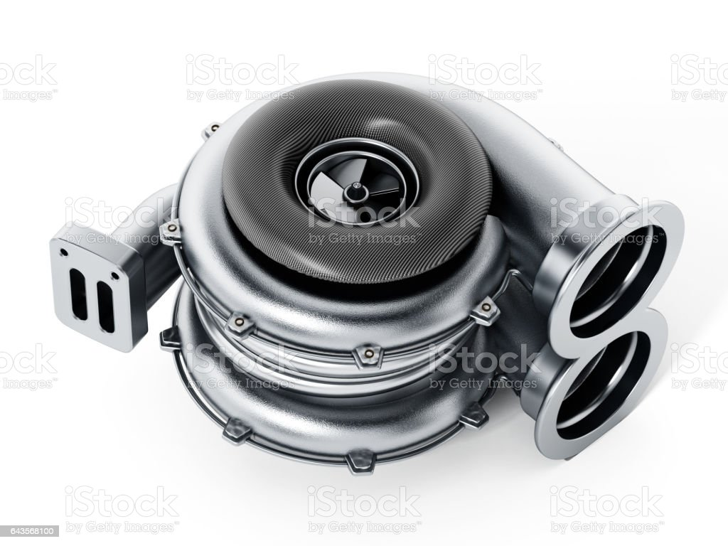 Generic car turbo isolated on white stock photo