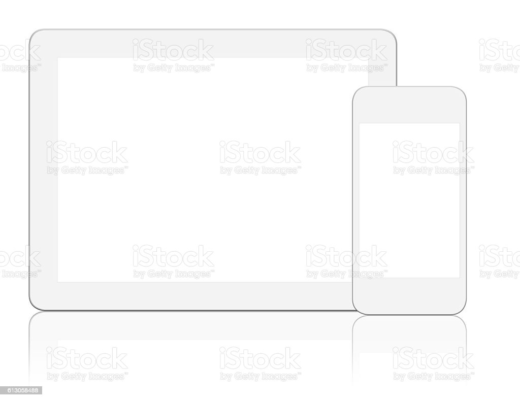 Generic Digital Tablet & Smart phone stock photo