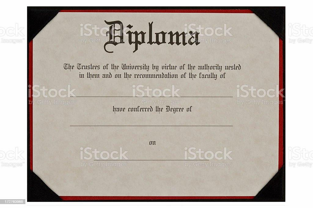 generic educational diploma stock photo