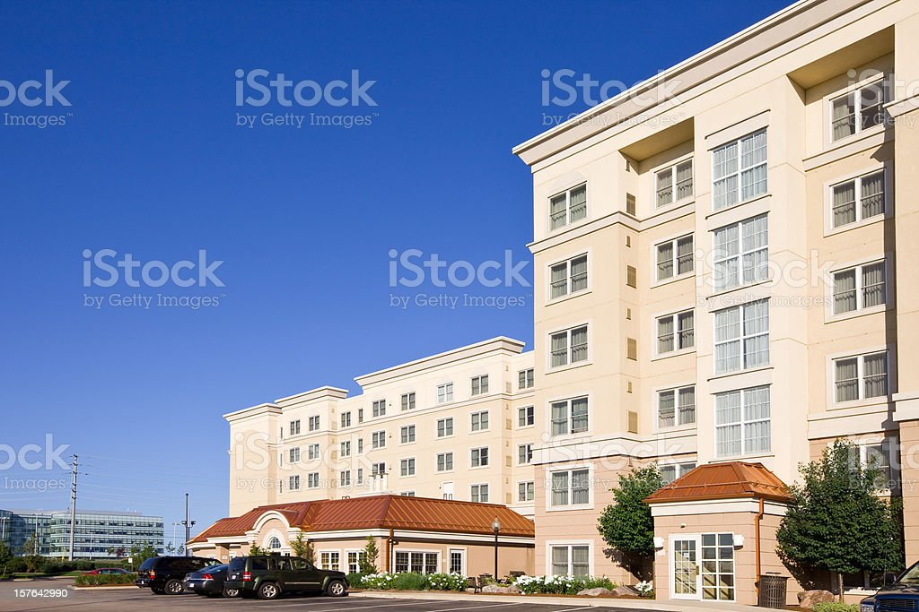 Generic Hotel Building stock photo