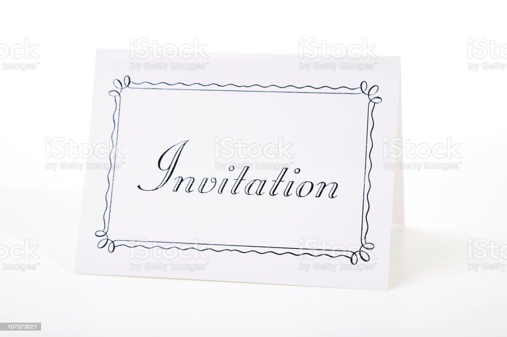 Generic Invitation royalty-free stock photo