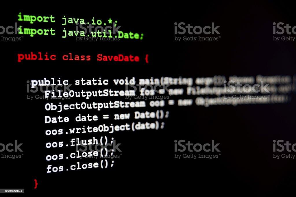 Generic Java code royalty-free stock photo