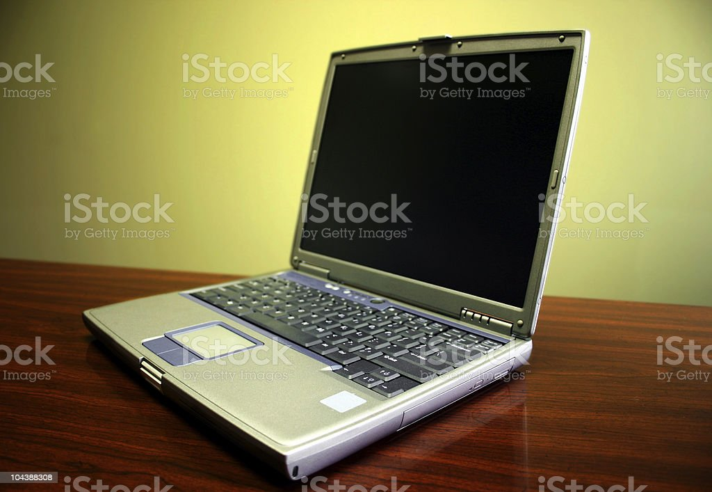 Generic Laptop royalty-free stock photo