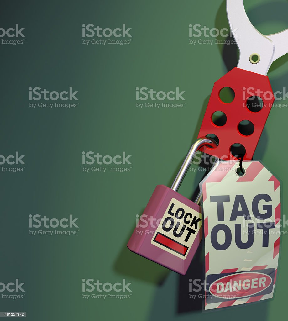 Generic Lockout Tagout stock photo