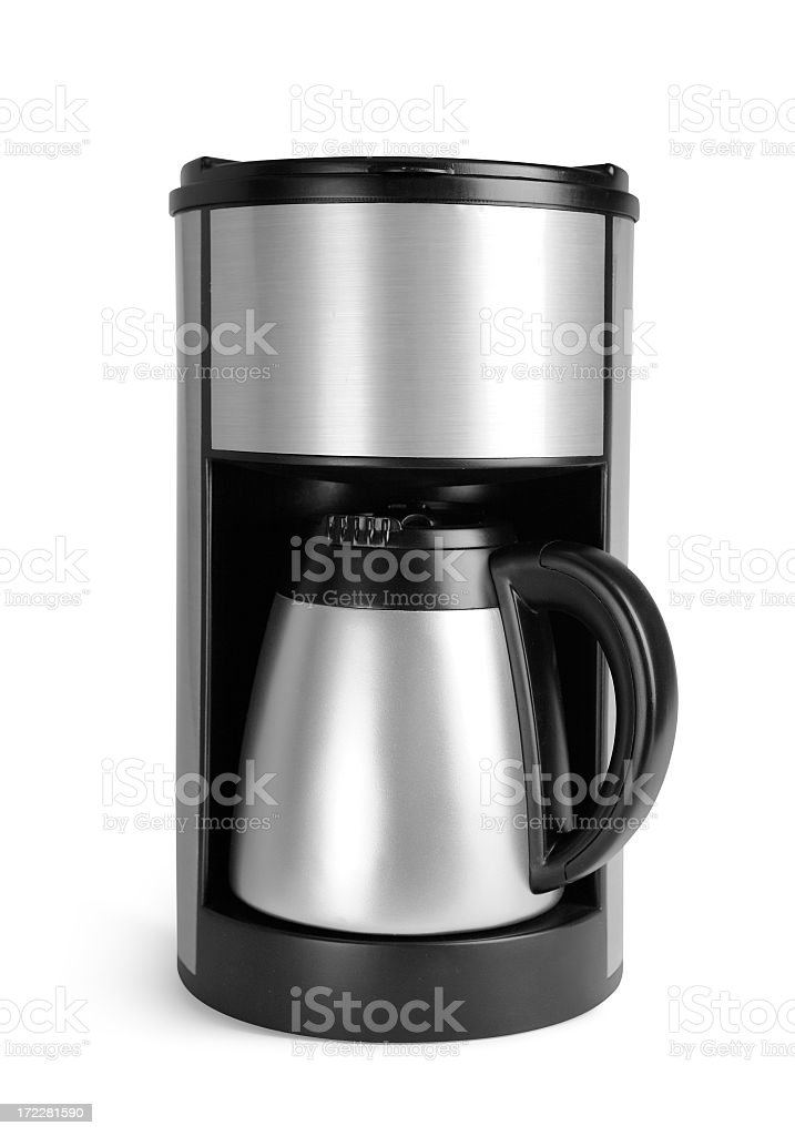 Generic Metallic coffee machine with clipping path royalty-free stock photo