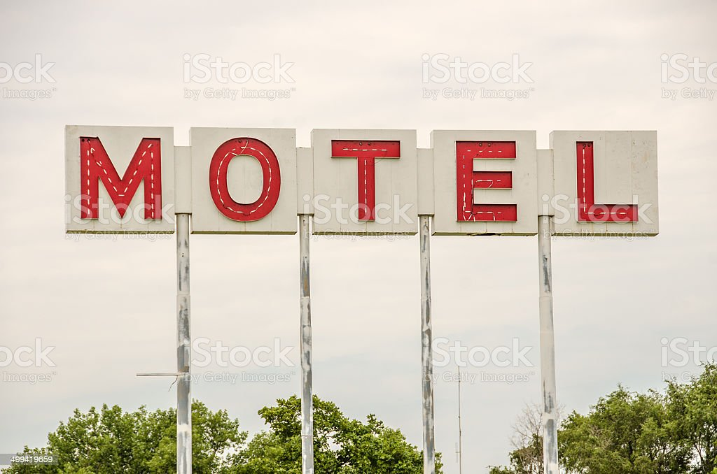 Generic Motel Sign stock photo