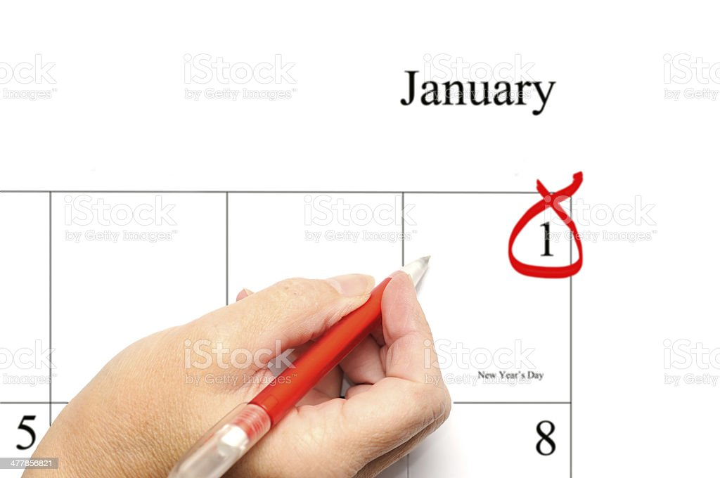 Generic New Year's Day blank entry royalty-free stock photo