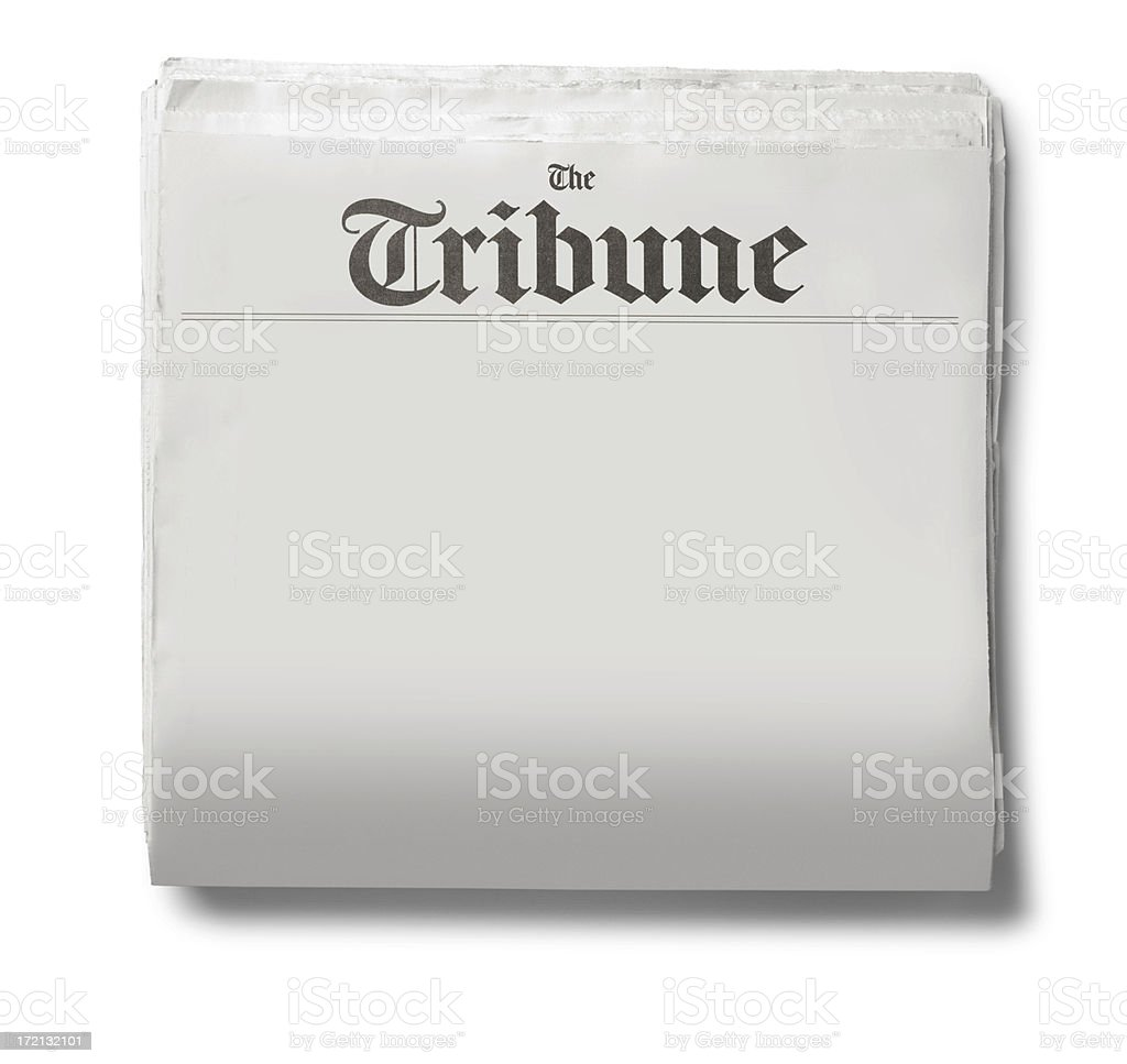 Generic Newspaper royalty-free stock photo