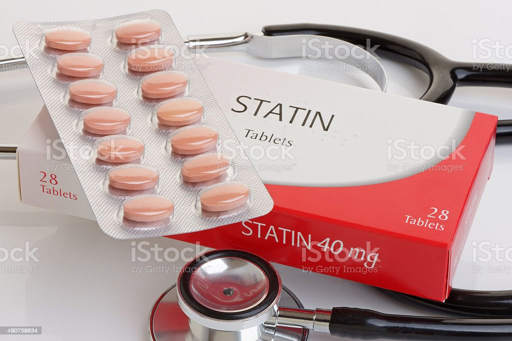 Generic Pack of Statins stock photo