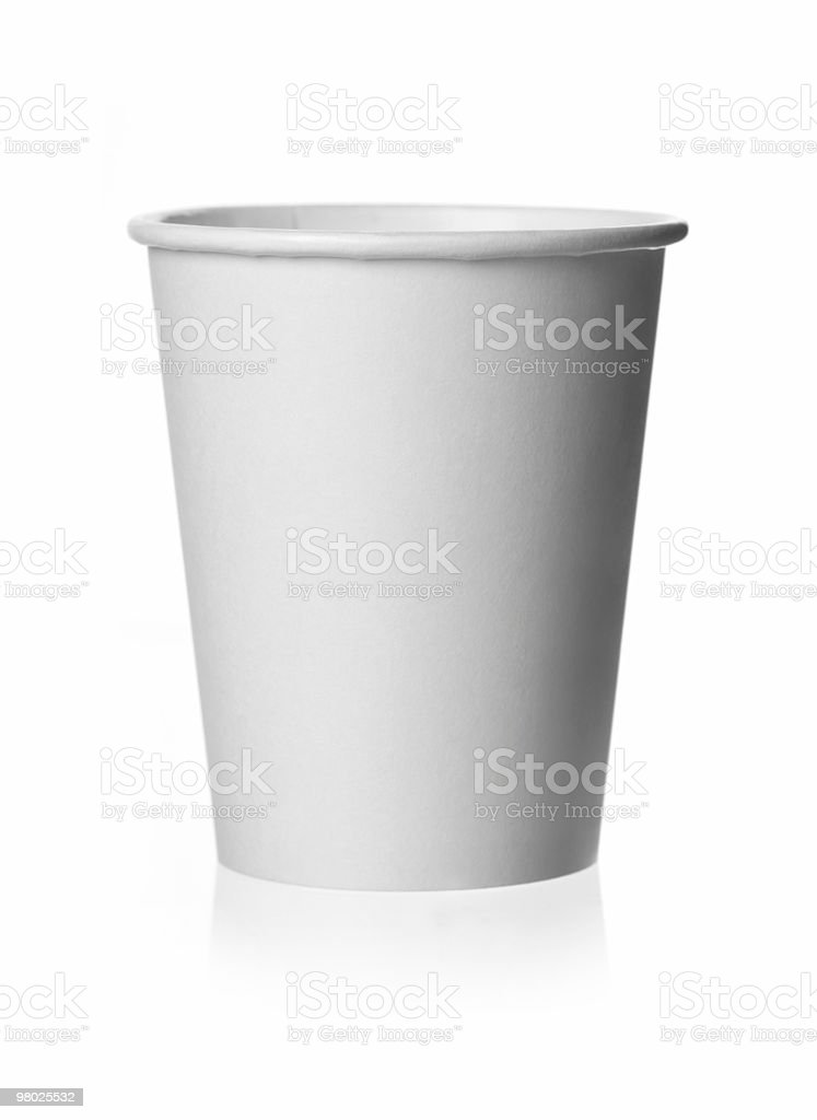 Generic Plain White Paper Cup stock photo