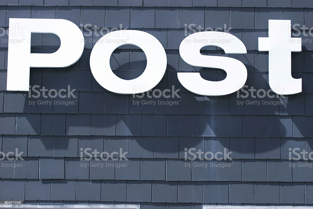 Generic post word royalty-free stock photo