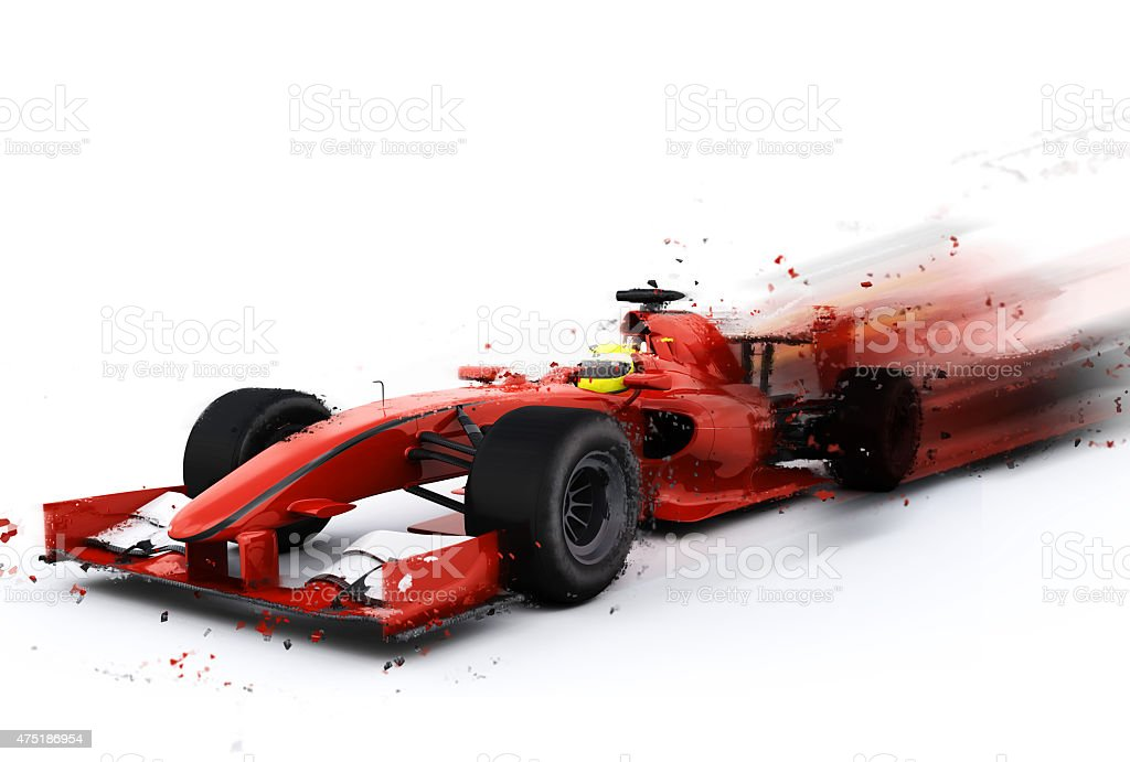 F1 generic racing car with special effect stock photo