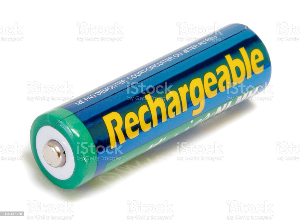 Generic Rechargeable AA Battery stock photo