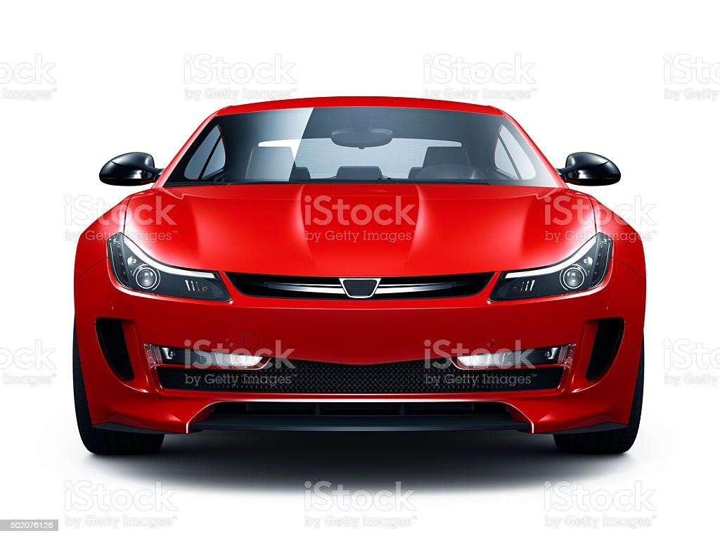Generic red sports car stock photo