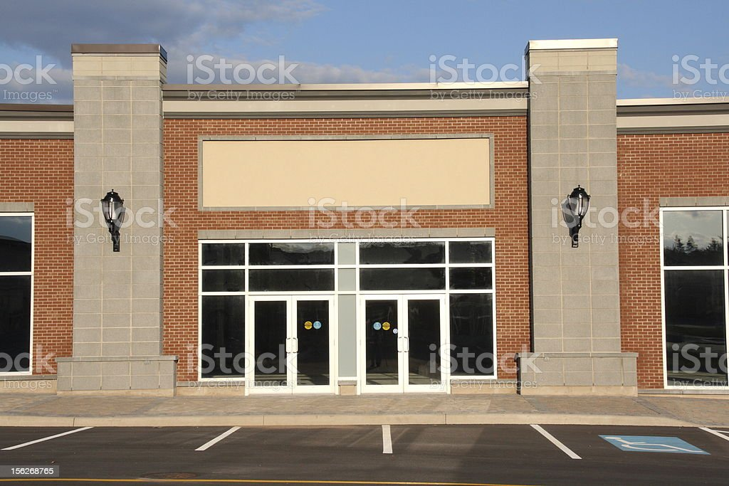 Generic retail store front - Insert name here, strip mall stock photo