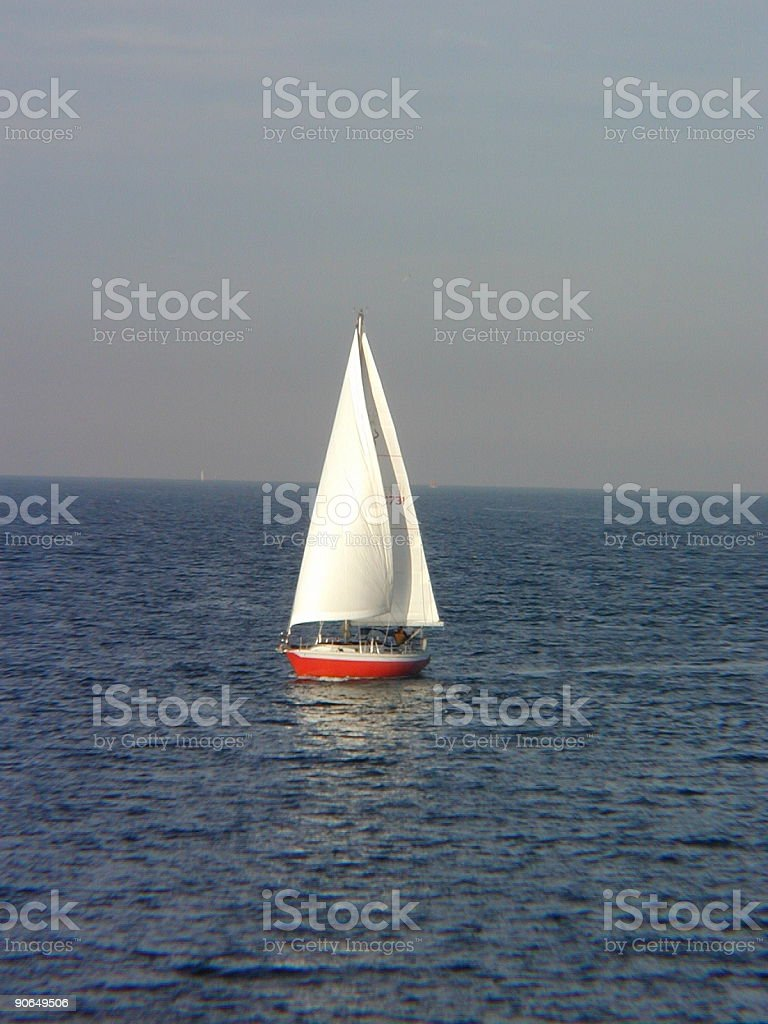 Generic Sail Boat royalty-free stock photo