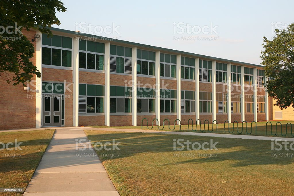 Generic school building stock photo